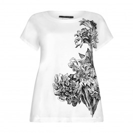 Marina Rinaldi white floral print TOP - Plus Size Collection