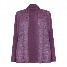 MARINA RINALDI heather jacquard CARDIGAN - Plus Size Collection