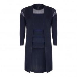MARINA RINALDI navy lurex TWINSET - Plus Size Collection