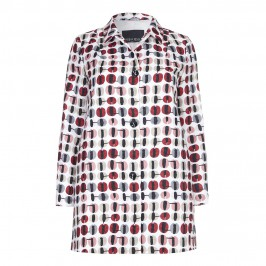 Marina Rinaldi jacquard print COAT - Plus Size Collection