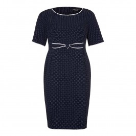 MARINA RINALDI POlka dot DRESS - Plus Size Collection