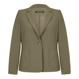 Marina Rinaldi khaki tailored JACKET - Plus Size Collection