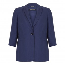 MARINA RINALDI French navy linen JACKET - Plus Size Collection