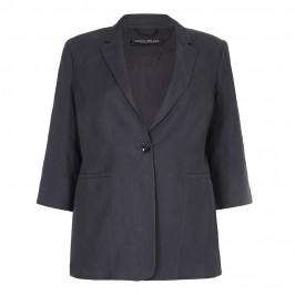 Marina Rinaldi grey linen JACKET - Plus Size Collection
