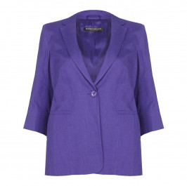 Marina Rinaldi violet tailored linen JACKET - Plus Size Collection