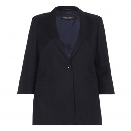 Marina Rinaldi navy tailored linen JACKET - Plus Size Collection