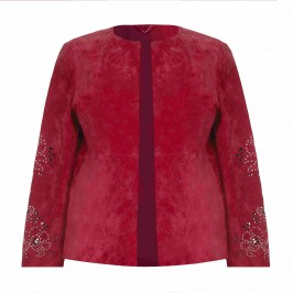 Marina Rinaldi red suede JACKET - Plus Size Collection