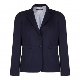 MARINA RINALDI Navy Punto Milano JACKET - Plus Size Collection