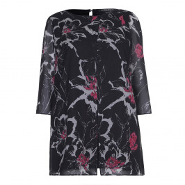 Marina Rinaldi foral print chiffon tunic - Plus Size Collection