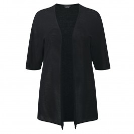 Marina Rinaldi Long black fine knit Cardigan - Plus Size Collection
