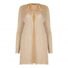 Marina Rinaldi LONG gold lurex CARDIGAN - Plus Size Collection