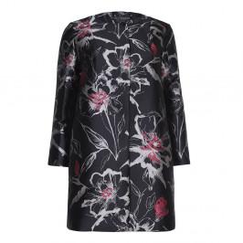 Marina Rinaldi LONGLine collarless brocade JACKET - Plus Size Collection