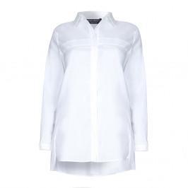 Marina Rinaldi longline pleat detail white SHIRT - Plus Size Collection