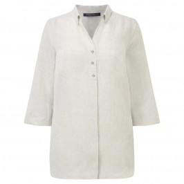 Marina Rinaldi stone linen shirt - Plus Size Collection