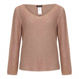 Marina Rinaldi bronze pink metallic sweater - Plus Size Collection