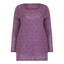 MARINA RINALDI lightweight heather jacquard SWEATER - Plus Size Collection