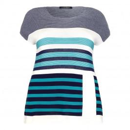 Marina Rinaldi colour block stripes SWEATER - Plus Size Collection