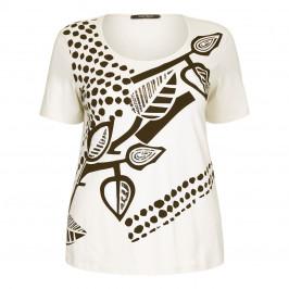 Marina Rinaldi embellished print T SHIRT - Plus Size Collection