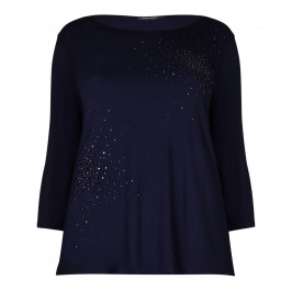 Marina Rinaldi navy embellished TOP - Plus Size Collection