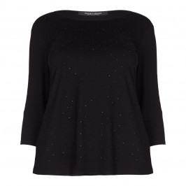 Marina Rinaldi black embellished TOP - Plus Size Collection