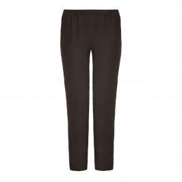Marina Rinaldi grey narrow leg linen trousers - Plus Size Collection