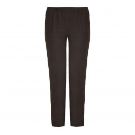 Marina Rinaldi grey narrow leg linen trousers - Plus Size Collection