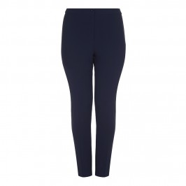 Marina Rinaldi navy narrow leg TROUSERS with elasticated waistband - Plus Size Collection