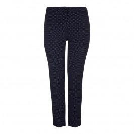 MARINA RINALDI Polka Dot slim leg TROUSERS - Plus Size Collection