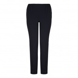 Marina Rinaldi straight leg navy TROUSERS - Plus Size Collection