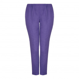 Marina Rinaldi violet linen TROUSERS - Plus Size Collection