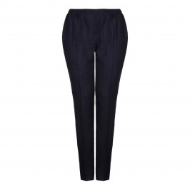 Marina Rinaldi navy linen TROUSERS - Plus Size Collection