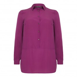 Marina Rinaldi magenta silk crepe de chine tunic - Plus Size Collection
