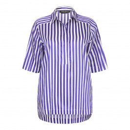 Marina Rinaldi violet striped Tunic - Plus Size Collection