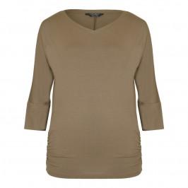 MARINA RINALDI khaki jersey TUNIC - Plus Size Collection