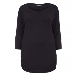 MARINA RINALDI BLACK JERSEY TUNIC - Plus Size Collection