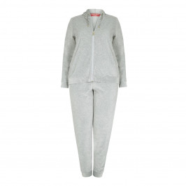 Marina Rinaldi GREY VELVET TRACK SUIT WITH SATIN DETAIL - Plus Size Collection