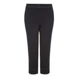 Marina Rinaldi contrast stitched ankle grazer trousers - Plus Size Collection