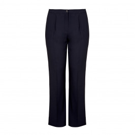 MARINA RINALDI  VIRGIN WOOL NAVY TROUSERS - Plus Size Collection