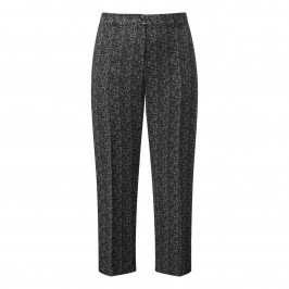 Marina Rinaldi tailored monochrome jacquard trousers - Plus Size Collection