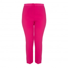 MARINA RINALDI FUCHSIA ANKLE GRAZER TROUSERS - Plus Size Collection
