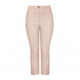 MARINA RINALDI VIRGIN WOOL AND SILK BLEND TROUSER BEIGE - Plus Size Collection
