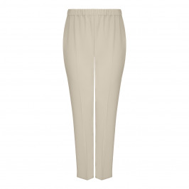 MARINA RINALDI FRONT CREASE PULL-ON TROUSER LIGHT GREY - Plus Size Collection
