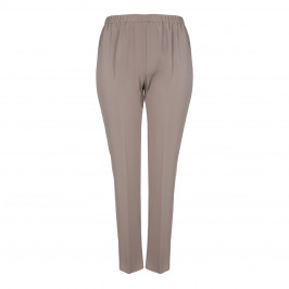 MARINA RINALDI PULL ON FRONT CREASE TROUSER TAUPE - Plus Size Collection
