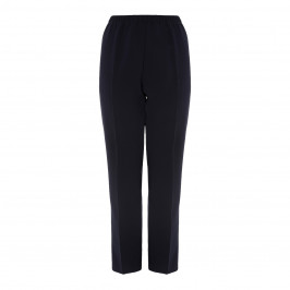 MARINA RINALDI TRIACETATE PULL ON FRONT CREASE TROUSER NAVY - Plus Size Collection
