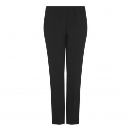 Marina Rinaldi black pull-on-straight leg TROUSERS - Plus Size Collection