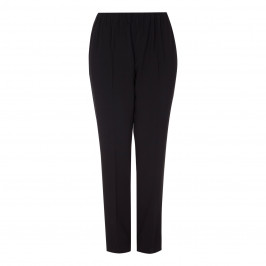 MARINA RINALDI BLACK PULL ON FRONT CREASE TROUSERS - Plus Size Collection