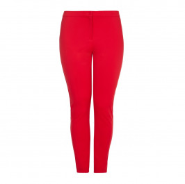 Marina Rinaldi red narrow leg jersey crepe TROUSERS