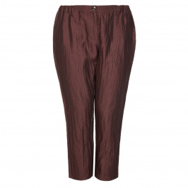 Marina Rinaldi Mahogany crushed linen silk TROUSERS - Plus Size Collection