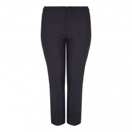 Marina Rinaldi dark grey ankle grazer wool TROUSERS - Plus Size Collection