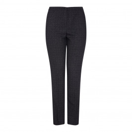 Marina Rinaldi GREY MELANGE TROUSERS WITH SLIGHT BOOTCUT   - Plus Size Collection
